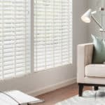 Faux Wood Blinds Living Room