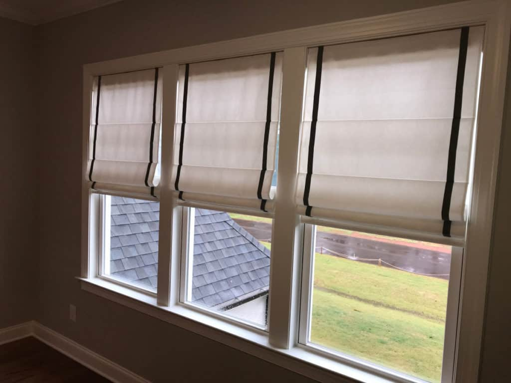 Before & After Roman Shades